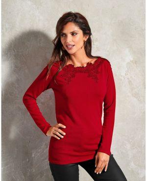 66c8a035f83d Blancheporte Dlhý kašmírový sveter červená 34 36 značky Blancheporte ...