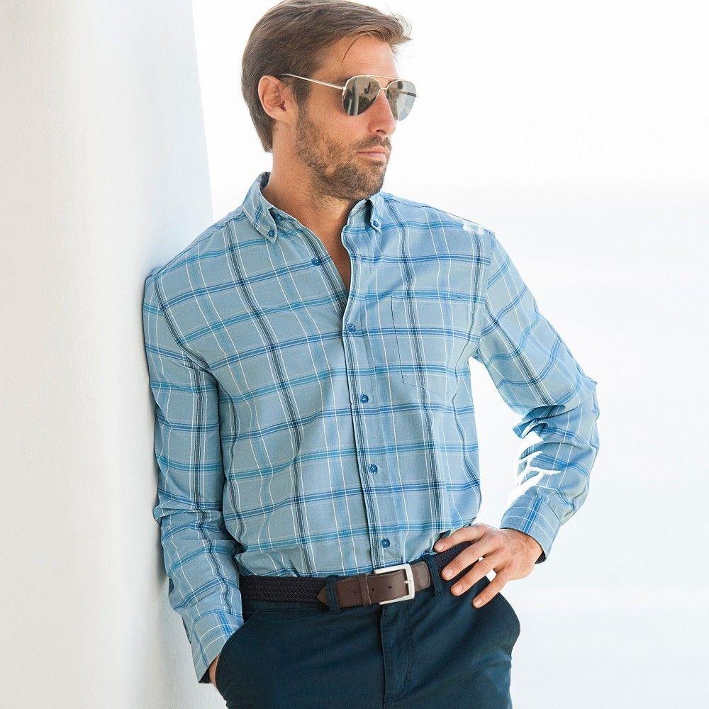 24758b765a5d Blancheporte Kockovaná košeľa s dlhými rukávmi značky Blancheporte ...