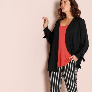 b106d542e5fe Blancheporte Dvojfarebný sveter s cípmi čierna sivá 38 40 značky ...