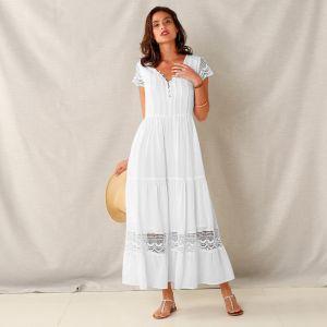 2931adebb7f9 Blancheporte Dlhé macramé šaty s volánmi