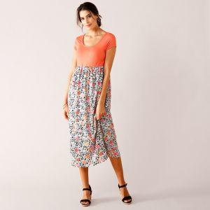 485f76d25f6a Blancheporte Dlhé šaty z 2 materiálov