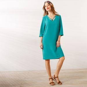 5f3b89e4bfaa Blancheporte Jednofarebné šaty s prekrížením