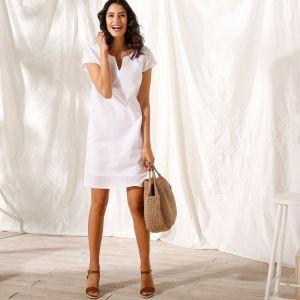 d454ffb6d4bb Blancheporte Jednofarebné šaty z bavlny-ľanu