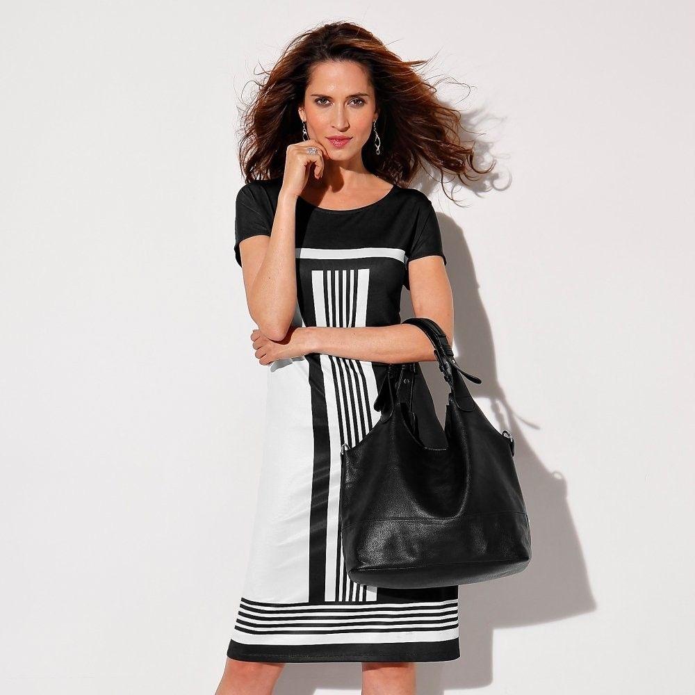 ea65a19c3b5f Blancheporte Šaty s grafickým vzorom čierna biela 34 36 značky Blancheporte  - Lovely.sk