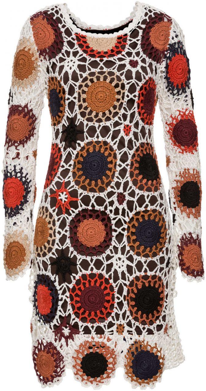 Háčkované šaty bonprix značky BODYFLIRT boutique - Lovely.sk fb4846b90b1