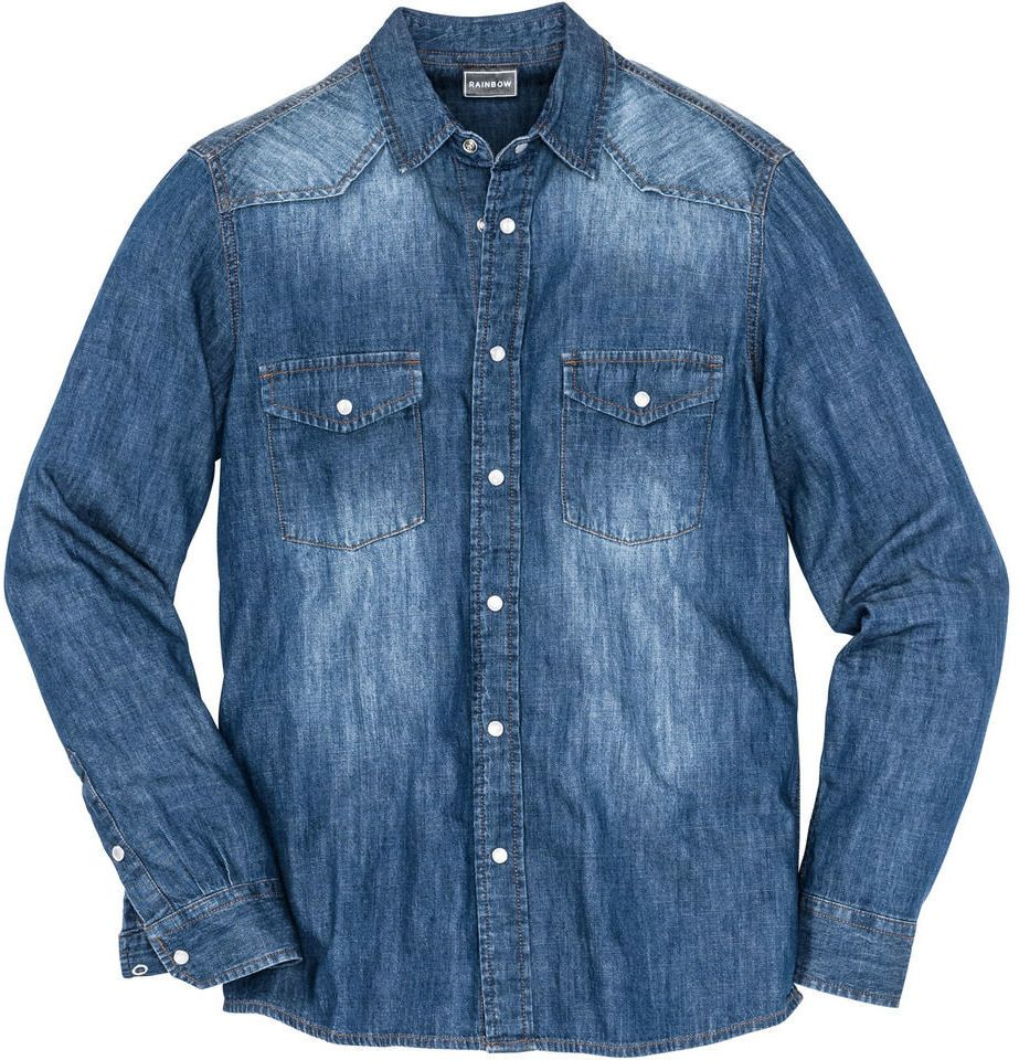 b4b8594f91b4 Džínsová košeľa s dlhým rukávom Slim Fit bonprix značky RAINBOW - Lovely.sk