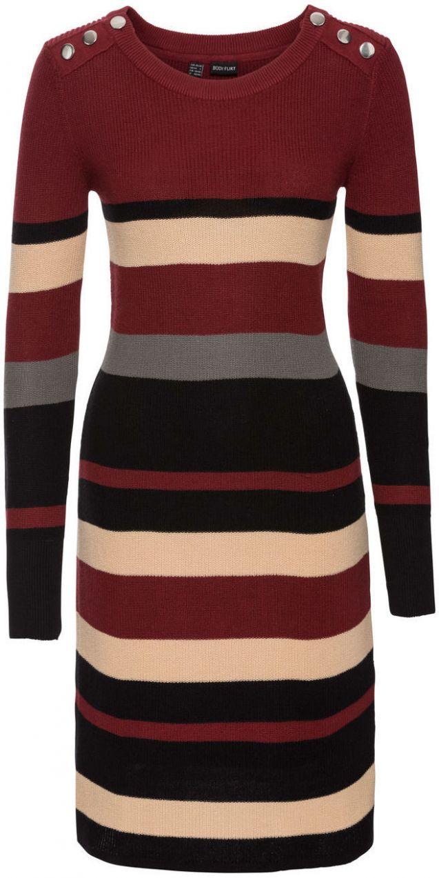 Pásikované pletené šaty bonprix značky BODYFLIRT - Lovely.sk 6a6d0f3f54b