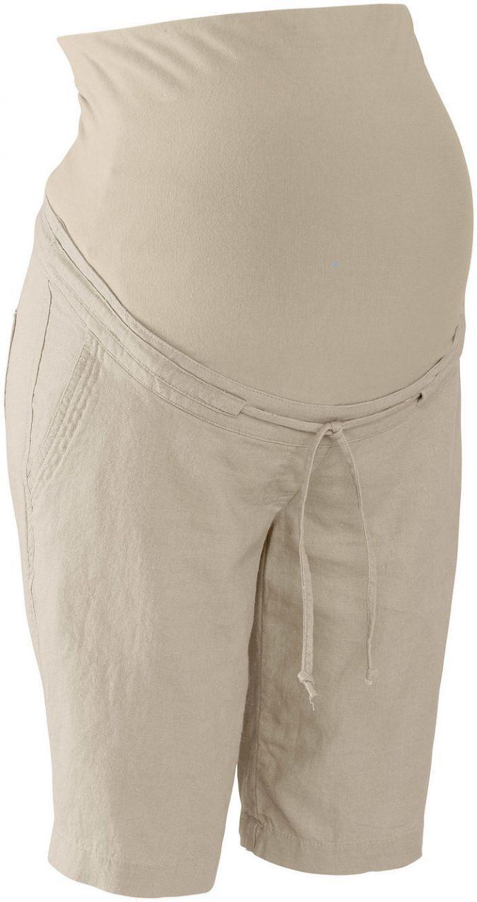 669a6f5c4729 Tehotenské ľanové šortky bonprix značky bpc bonprix collection - Lovely.sk