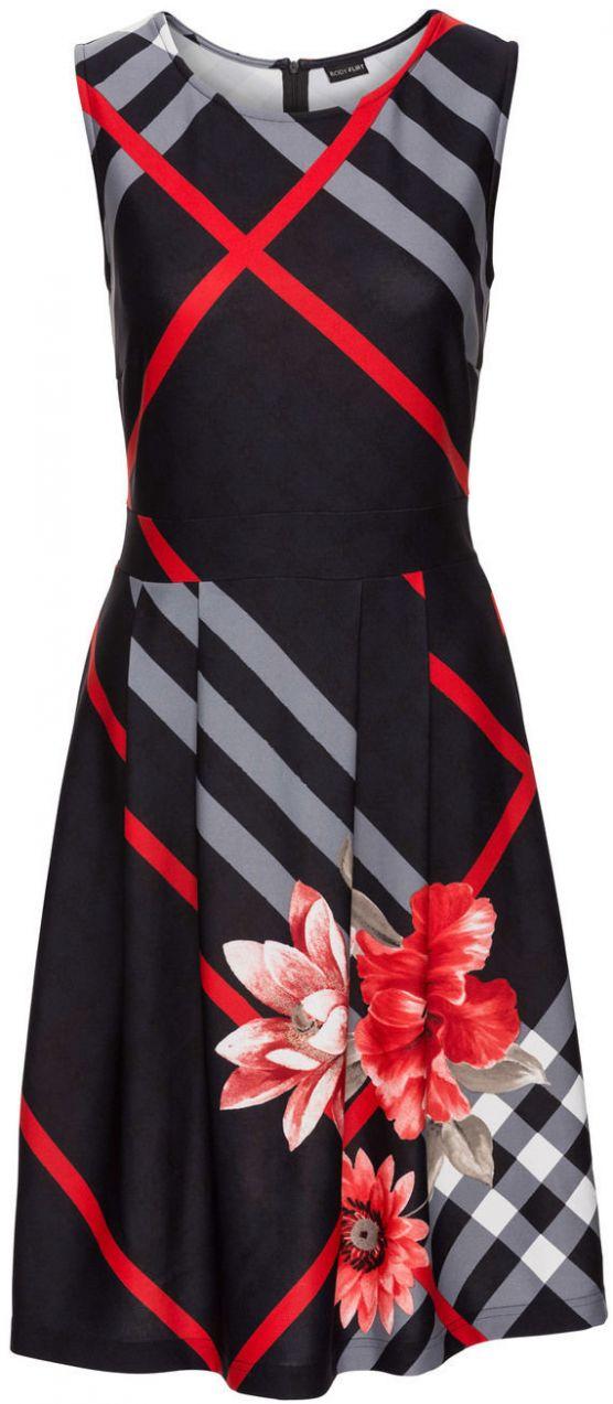 Šaty s károvaným vzorom bonprix značky BODYFLIRT boutique - Lovely.sk dda762d645e