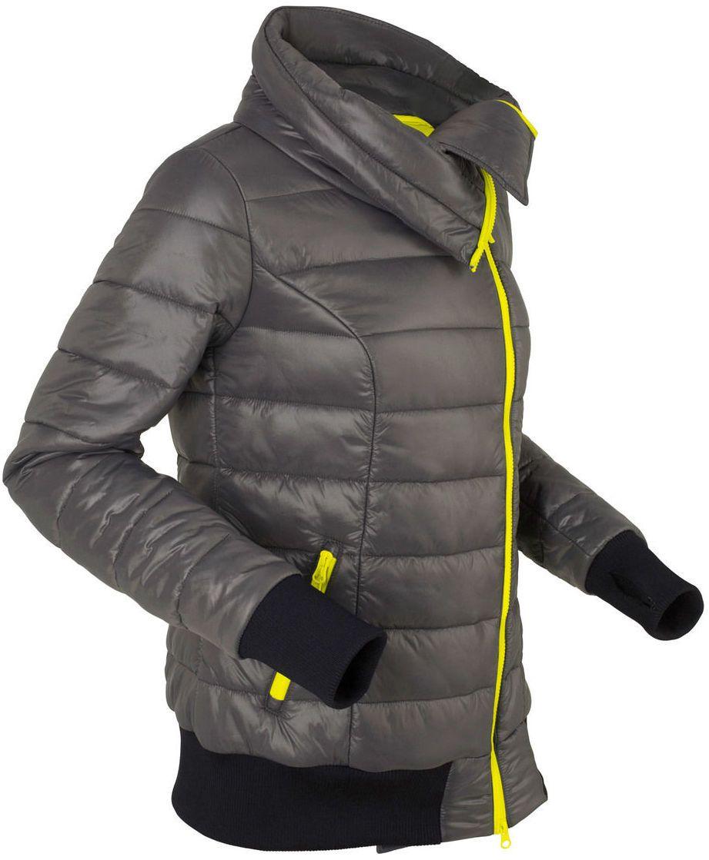 Ľahká prešívaná bunda s asymetrickým zapínaním na zips bonprix ... f57d38e8f2f