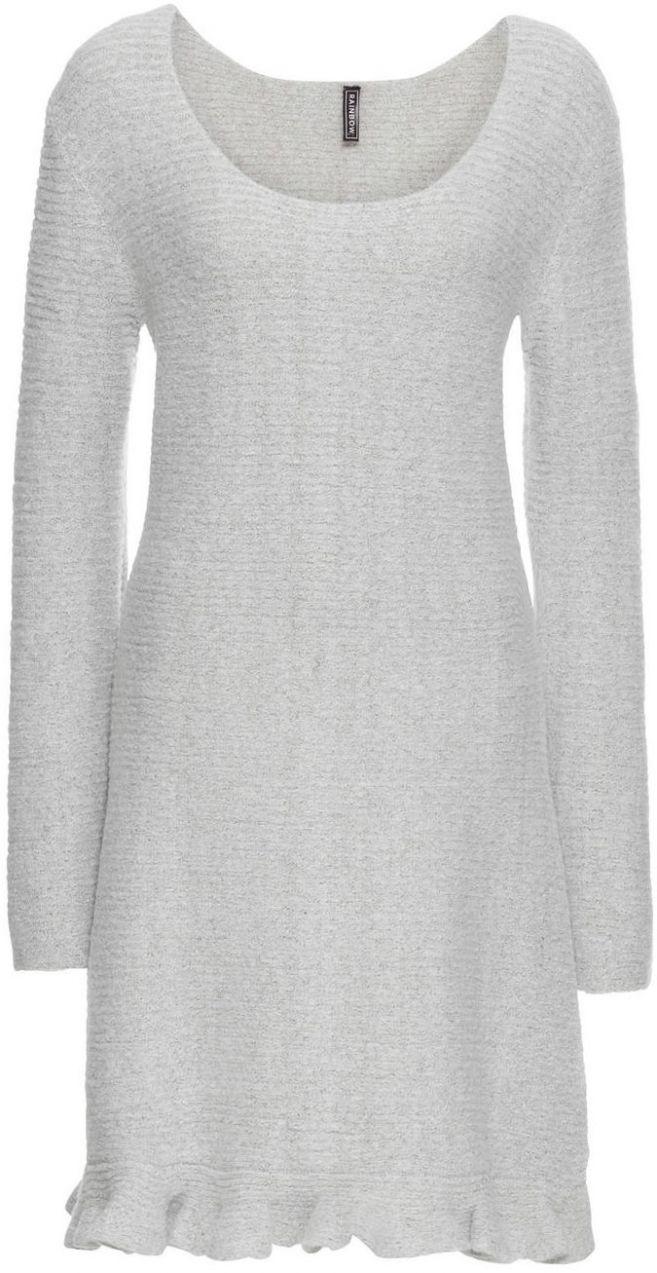 52ca898f5f6d Pletené šaty s volánom bonprix značky RAINBOW - Lovely.sk