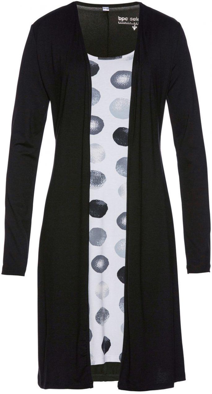 7760694b499f Úpletové šaty v dvojdielnom vzhľade bonprix značky bpc selection - Lovely.sk
