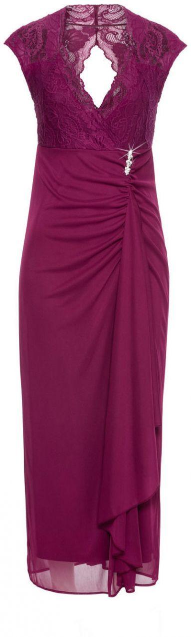 Džersejové maxi šaty s čipkou bonprix značky BODYFLIRT - Lovely.sk 8931a2b5b69