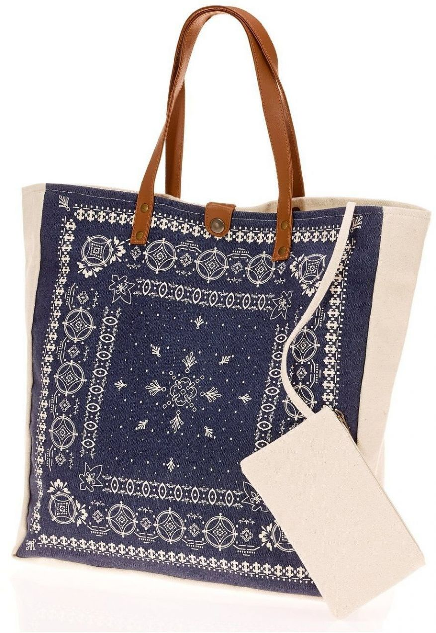 f587ebf23dd4 Plátená taška s ornamentami bonprix značky John Baner JEANSWEAR - Lovely.sk
