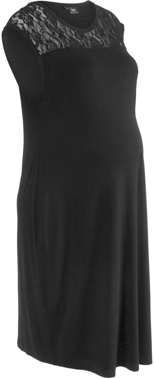 79420b183c Tehotenské úpletové šaty s čipkou bonprix značky bpc bonprix collection -  Lovely.sk