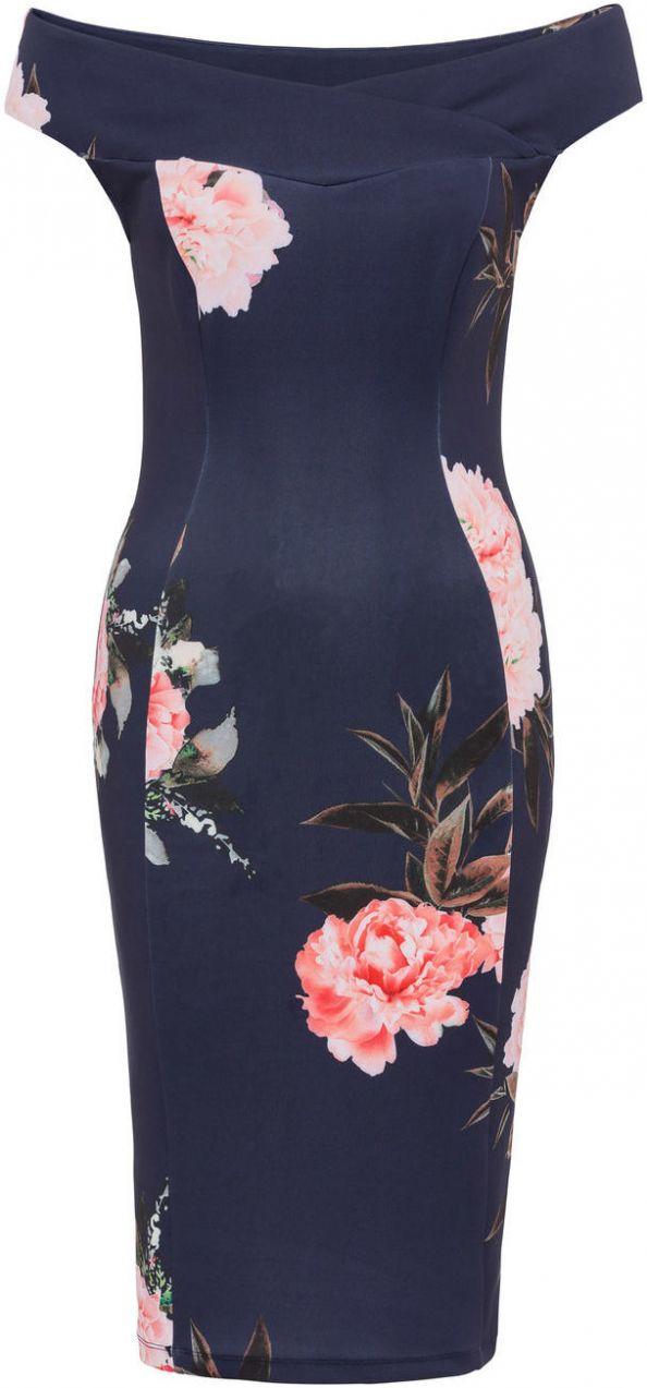 Šaty s kvetovanou potlačou bonprix značky BODYFLIRT boutique - Lovely.sk 773aef93cb2