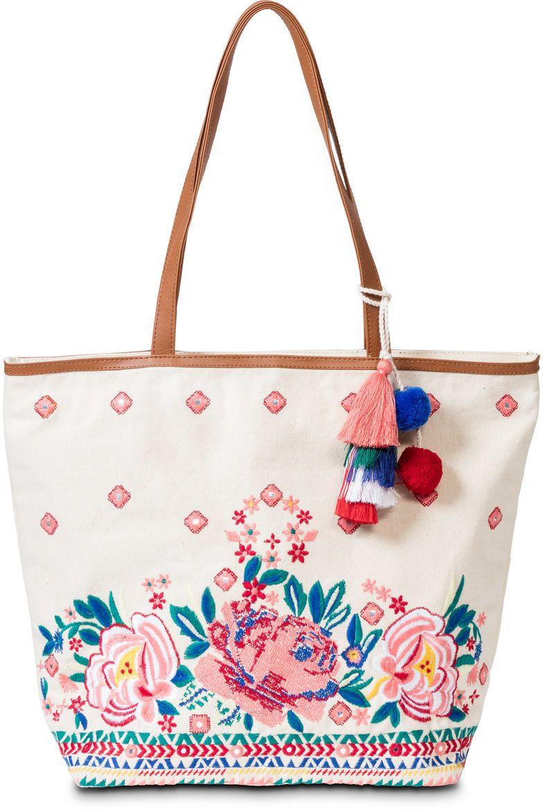 77e9f3d5b522 Plážová taška shopper s výšivkou bonprix značky bpc bonprix collection -  Lovely.sk