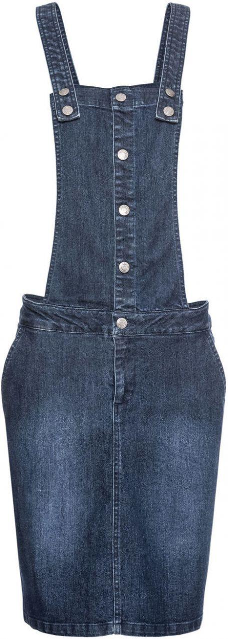 5af004bb842b Strečové džínsové šaty na traky bonprix značky John Baner JEANSWEAR -  Lovely.sk