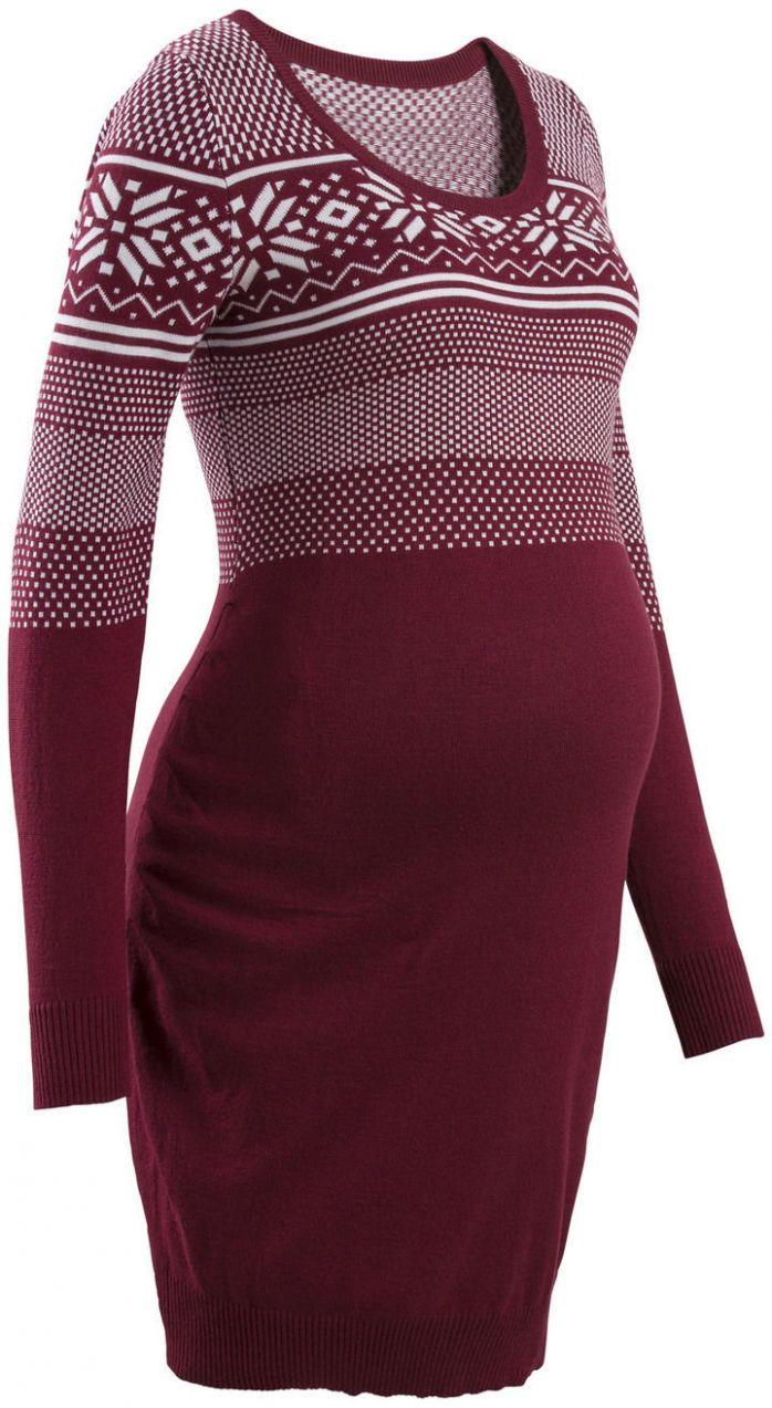 284c9323ed Tehotenské šaty s nórskym vzorom bonprix značky bpc bonprix collection -  Lovely.sk