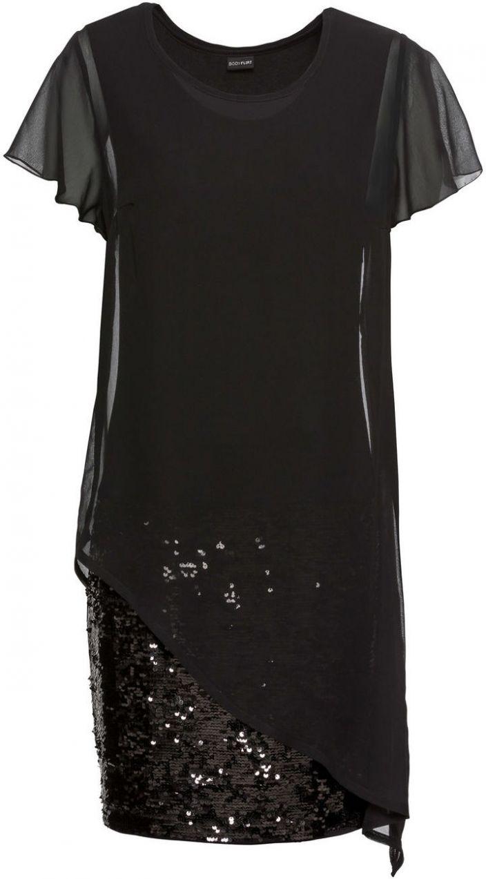 d4341354f0fa Koktejlové šaty z džerseju s flitrami bonprix značky BODYFLIRT - Lovely.sk