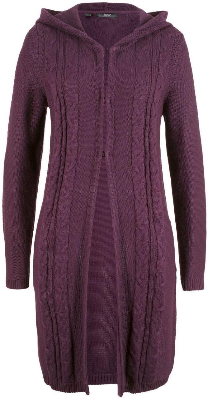 ac77e8c5d968 Dlhý pletený sveter s kapucňou bonprix značky bpc bonprix collection -  Lovely.sk