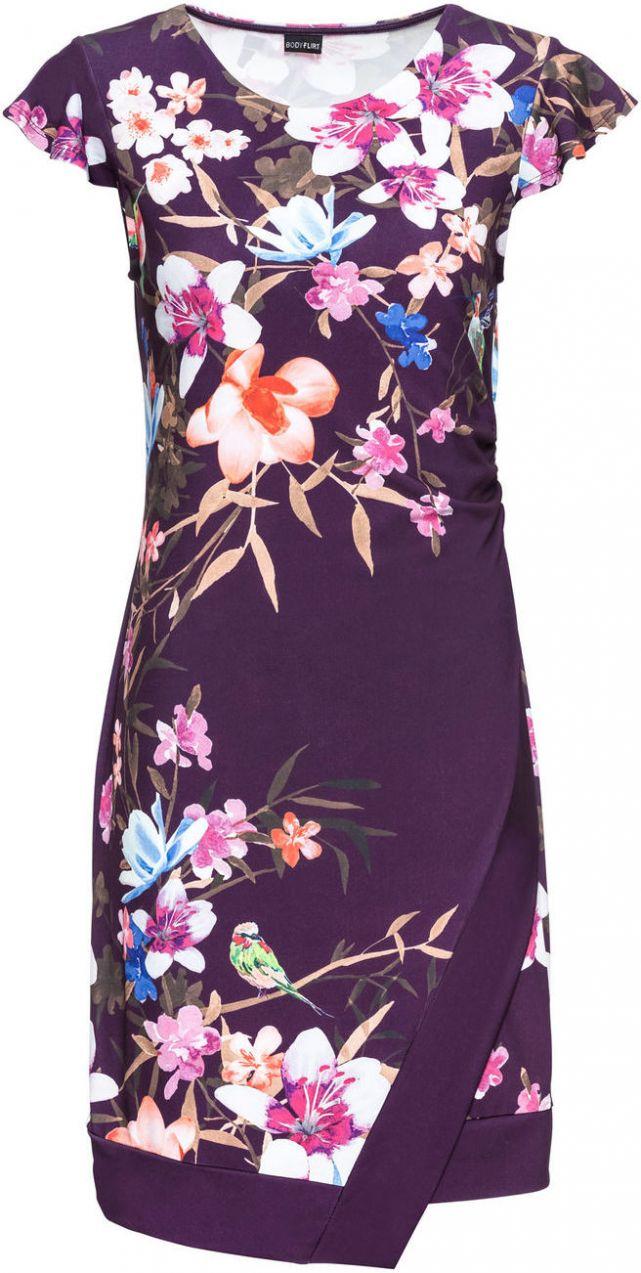 Džersejové šaty s kvetovanou potlačou bonprix značky BODYFLIRT - Lovely.sk 45ea8f485aa