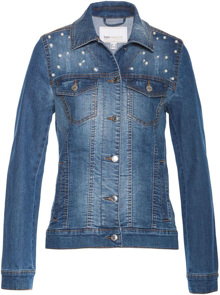 004dae9e40bb Džínsová bunda s perličkami bonprix značky bpc selection - Lovely.sk