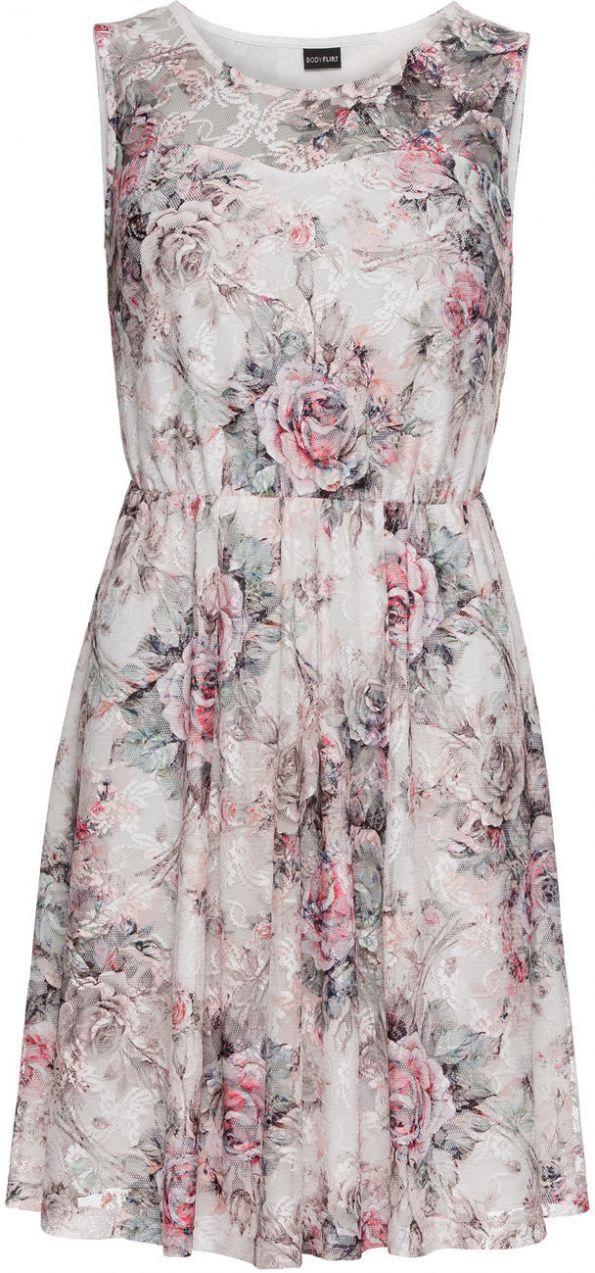 d601608a30fa Džersejové šaty s potlačenou čipkou bonprix značky BODYFLIRT - Lovely.sk