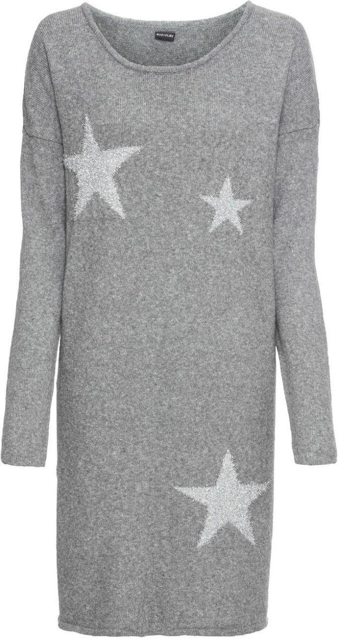 Pletené šaty s hviezdami bonprix značky BODYFLIRT - Lovely.sk 20f8356ba98