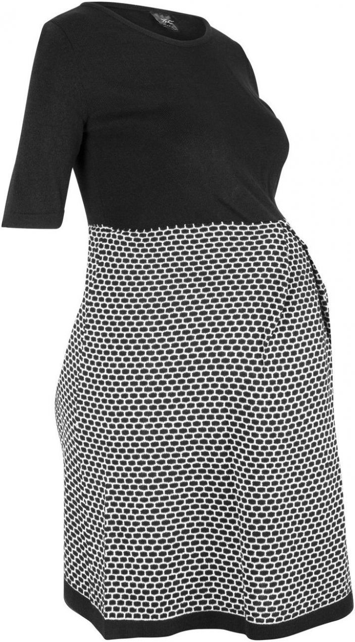 89243222a982 Tehotenské pletené šaty bonprix značky bpc bonprix collection - Lovely.sk