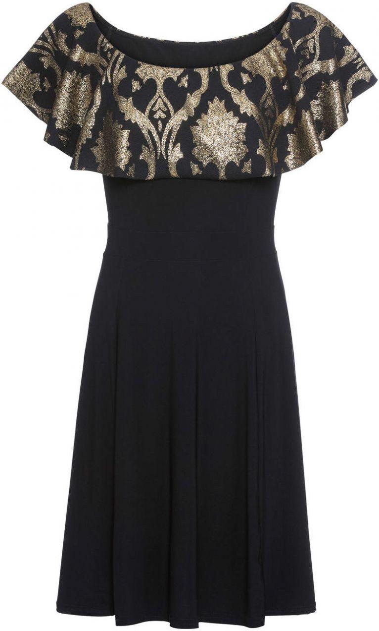 Šaty s brokátovým vzorom bonprix značky BODYFLIRT - Lovely.sk bef2157783