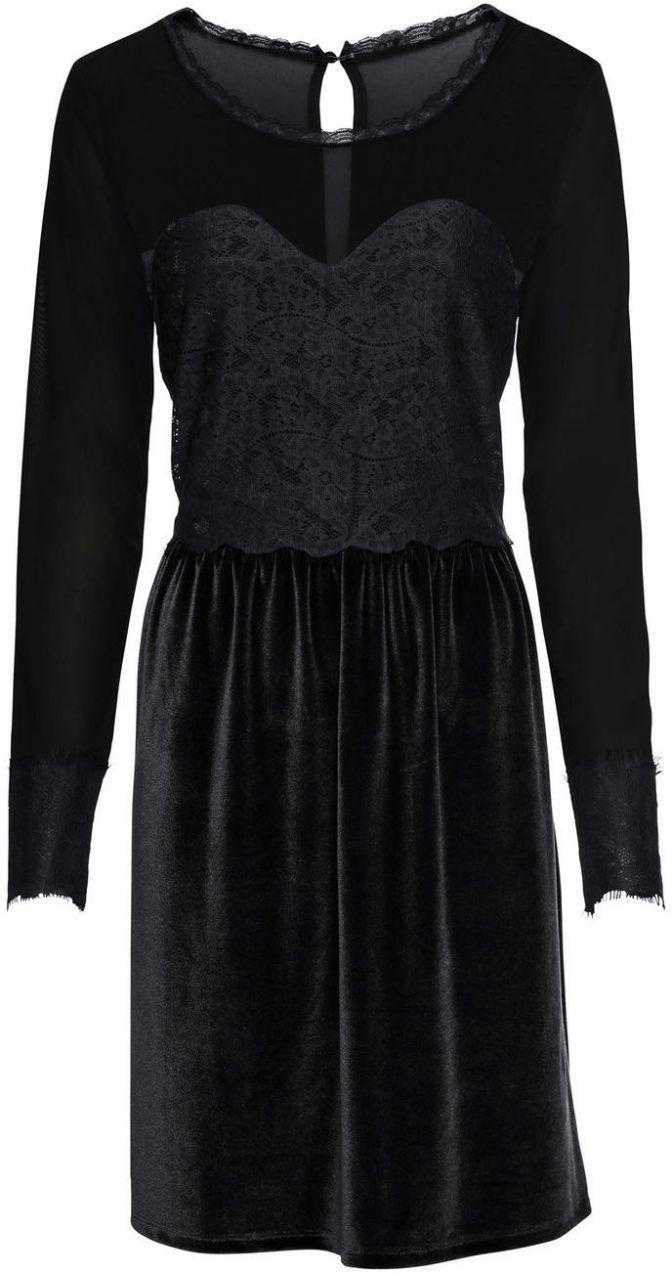 Velvet šaty s čipkou bonprix značky BODYFLIRT - Lovely.sk b37594ecd30