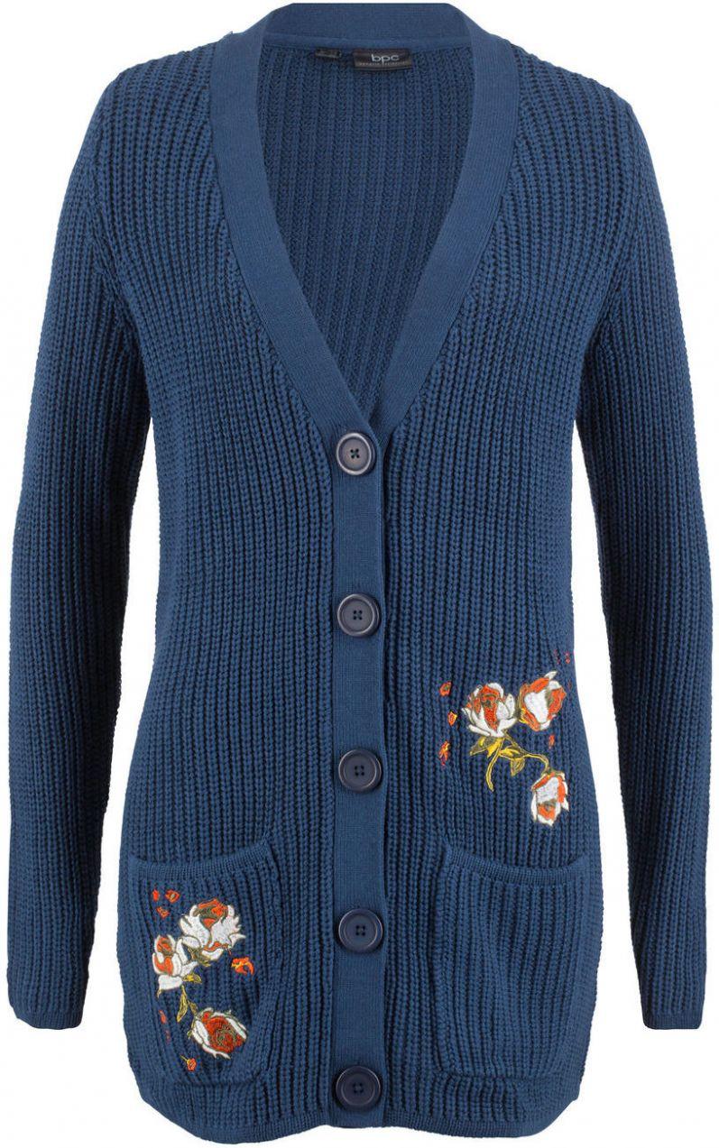5a8b26f2cfc4 Pletený sveter s výšivkou bonprix značky bpc bonprix collection - Lovely.sk