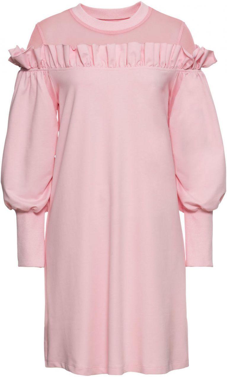 Mikinové šaty so sieťovinovou časťou bonprix značky BODYFLIRT ... 63fe62980f1
