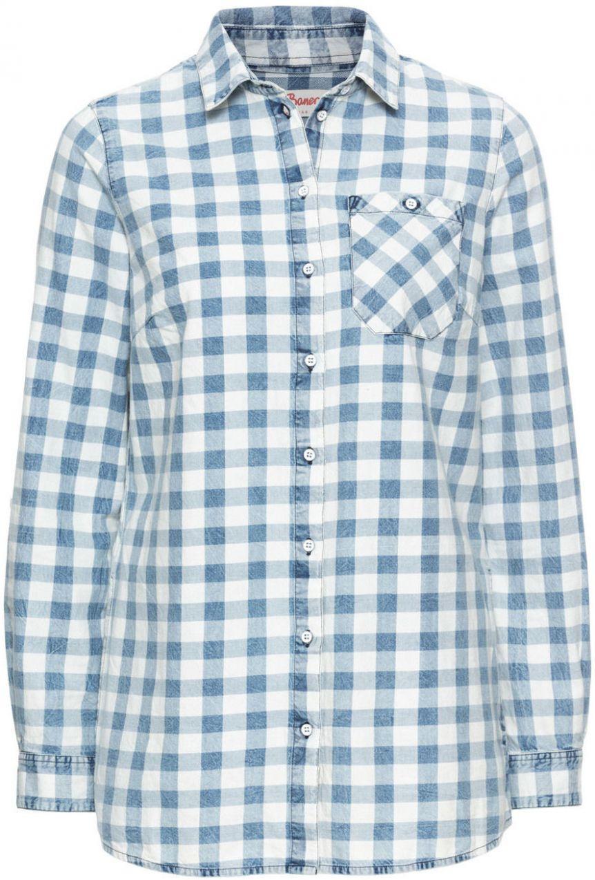 1b882eda56d4 Károvaná košeľa s vybieleným vzhľadom