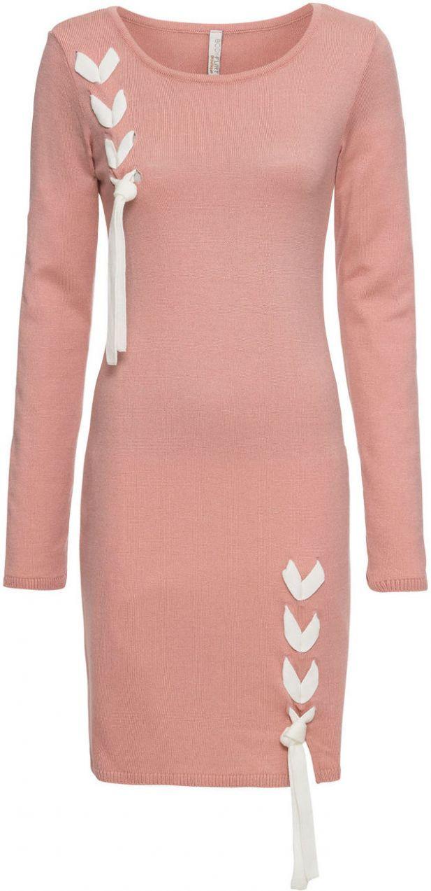 Pletené šaty s mašľou bonprix značky BODYFLIRT boutique - Lovely.sk 14636465c9