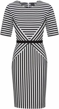 Čierno–biele vzorované šaty s riasením Dorothy Perkins značky ... cbf75b0c0a8