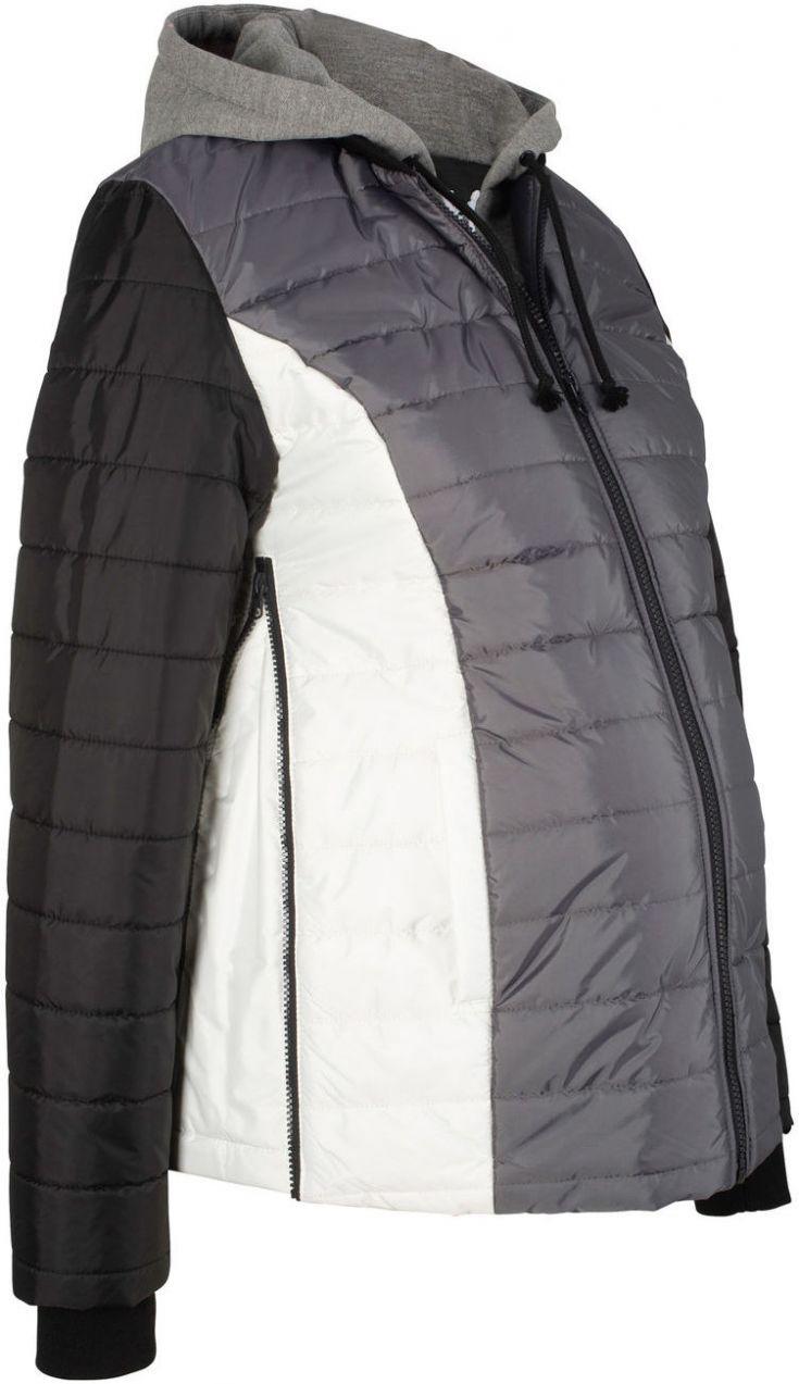 Materská prešívaná bunda s teplákovými časťami bonprix značky bpc ... 499333f179e