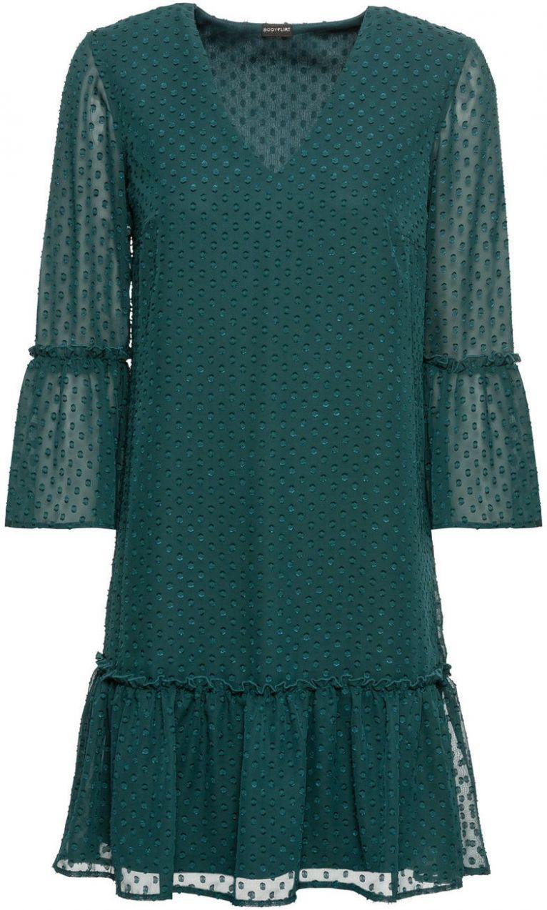 Šaty s volánmi bonprix značky BODYFLIRT - Lovely.sk b0cfd3adce