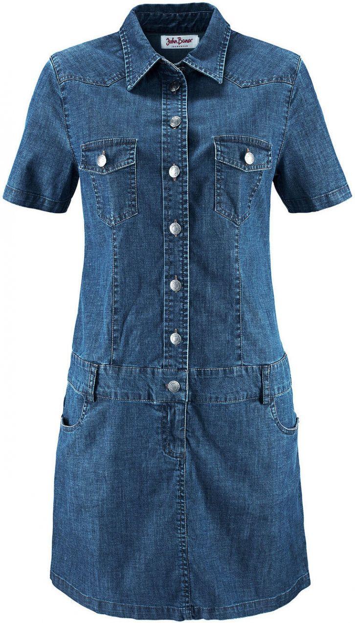 ca819ce3f7 Strečové džínsové šaty bonprix značky John Baner JEANSWEAR - Lovely.sk