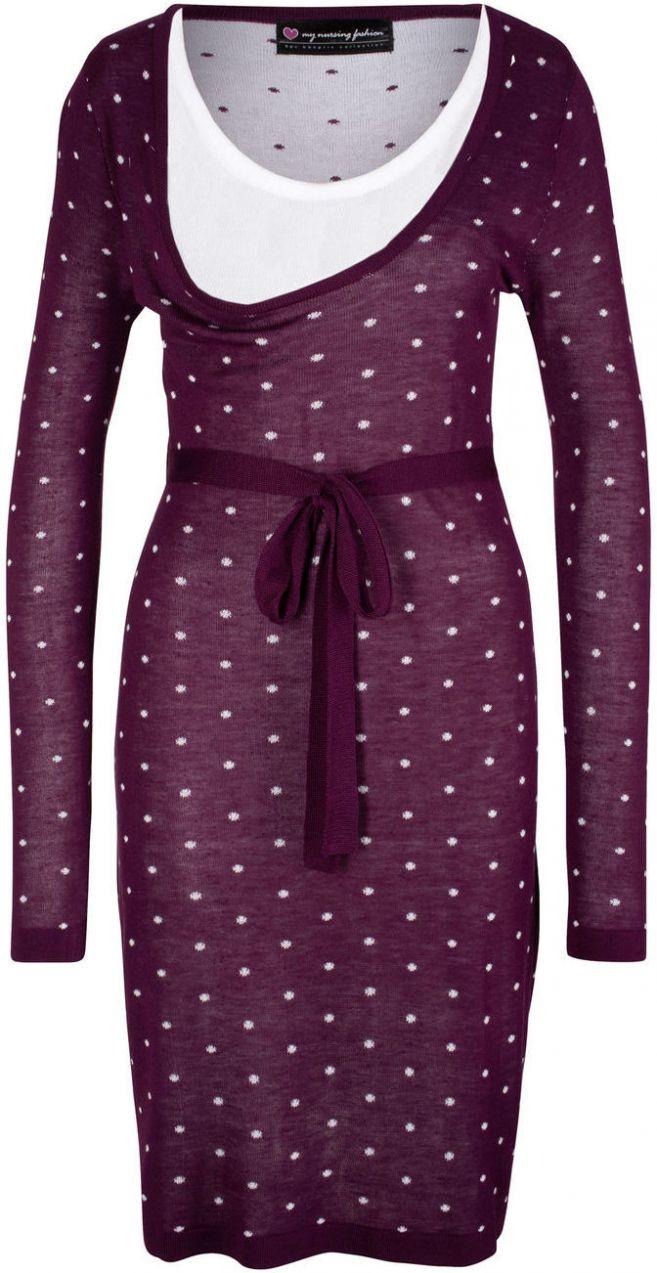 dae5e387d068 Materské pletené šaty na dojčenie bonprix značky bpc bonprix collection -  Lovely.sk
