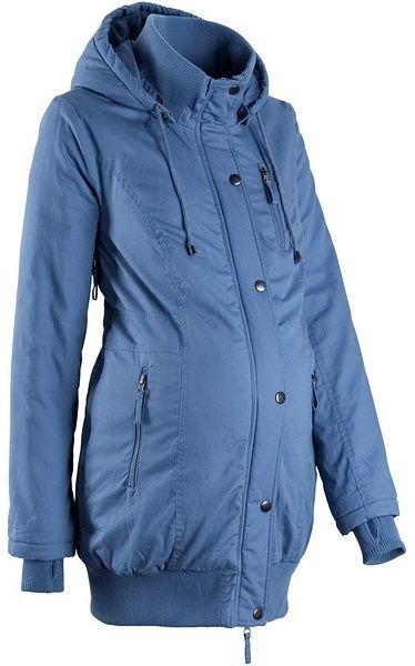 Tehotenská bunda s kapucňou a vrúbkovanými patentami bonprix značky bpc  bonprix collection - Lovely.sk 95d46231a79