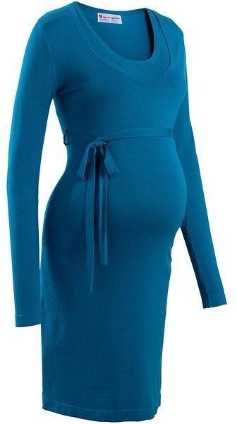 2e88b51d3059 Tehotenské pletené šaty so šnúrkou bonprix značky bpc bonprix collection -  Lovely.sk