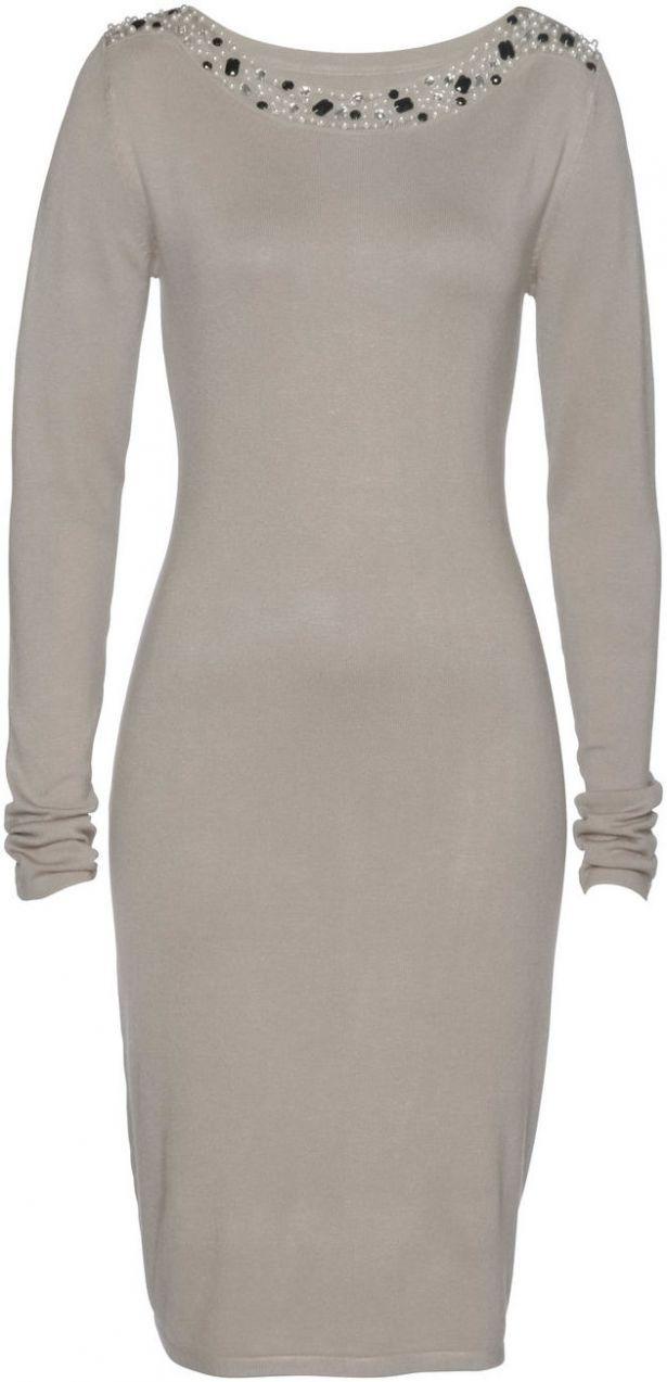 275f617e3575 Pletené šaty s perličkami bonprix značky bpc selection premium - Lovely.sk