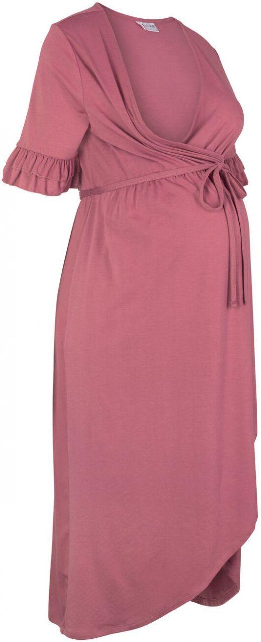 530ba2d7ad60 Slávnostné šaty na dojčenie materské šaty v zavinovacom vzhľade bonprix  značky bpc bonprix collection - Lovely.sk
