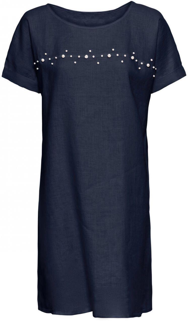 97ac2326bcca Ľanové šaty s perlami bonprix značky BODYFLIRT - Lovely.sk
