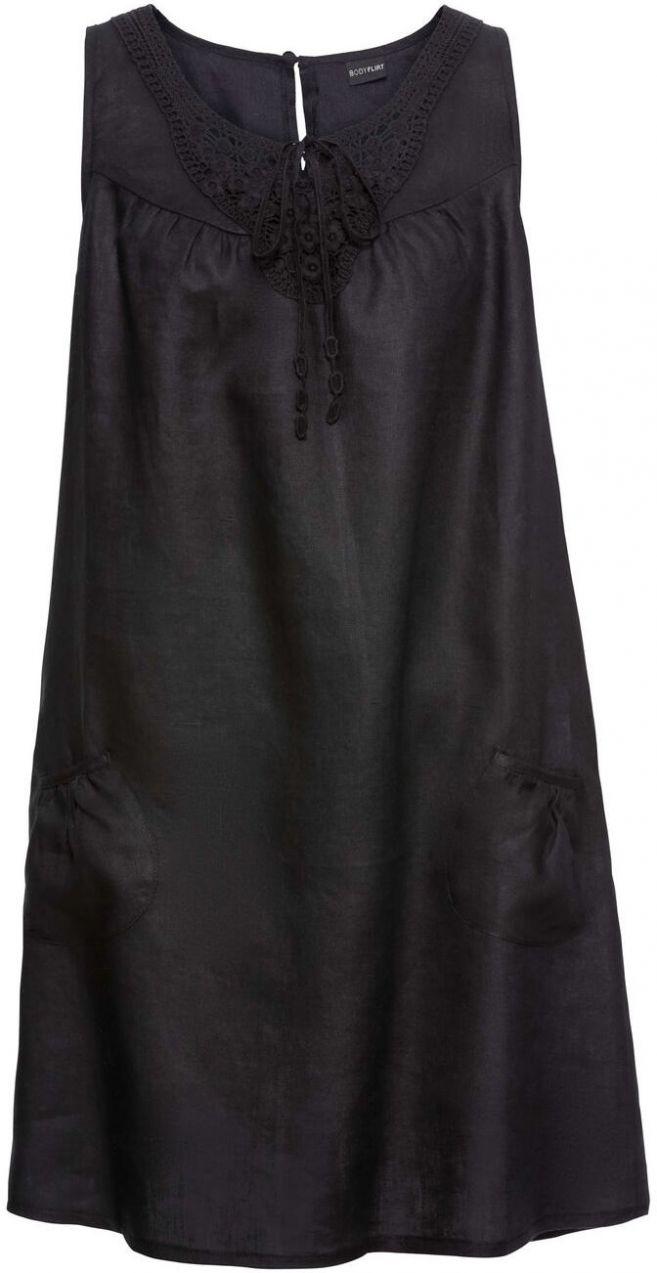 f07af328ff69 Ľanové šaty s čipkou bonprix značky BODYFLIRT - Lovely.sk