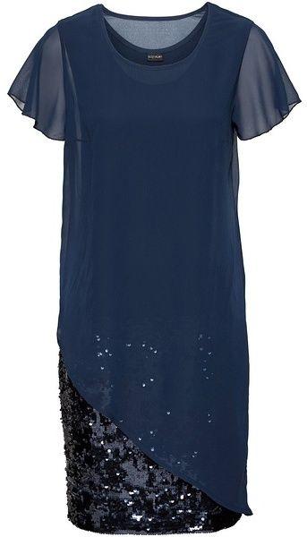 Koktejlové šaty z džerseju s flitrami bonprix značky BODYFLIRT - Lovely.sk 04d7bf1b1a