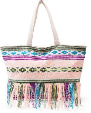 Etno nákupná taška s pestrými strapcami bonprix 16c35d0bf0
