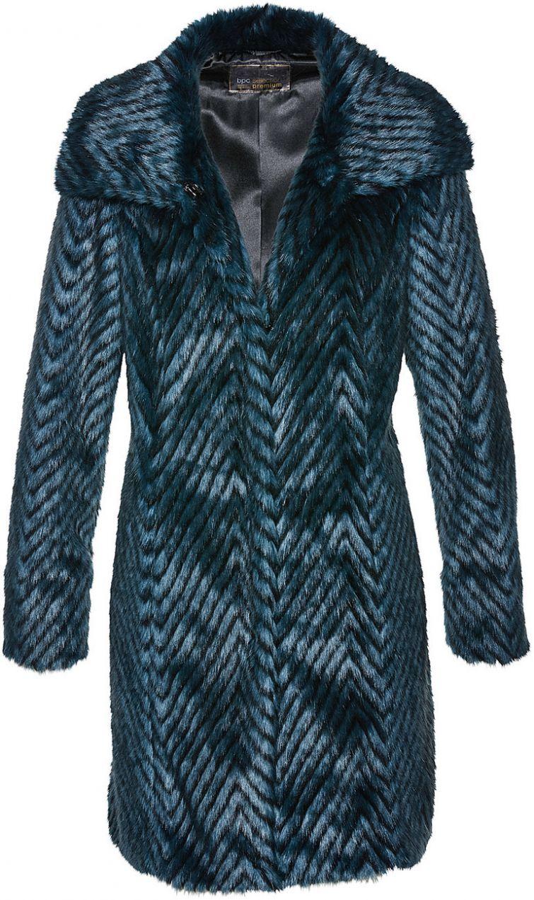 938081c9a1d1 Kabát z imitácie kožušiny bonprix značky bpc selection premium - Lovely.sk